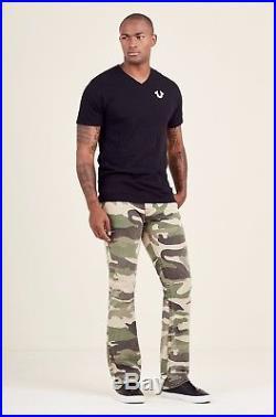 True Religion Men Military US Army Camo Straight Jeans Combat Surplus Battle