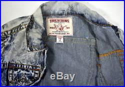 True Religion Men's $229 Hand Picked Slim Multi Big T Trucker Jacket 100108