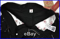 True Religion Men's $249 Hand Picked Paint Splashed Straight Jeans 100726