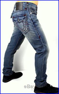 True Religion Men's $299 Geno Super T Relaxed Slim Jeans 101770