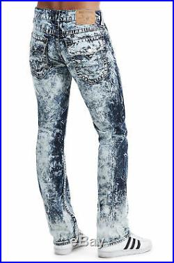 True Religion Men's Big T Straight Relaxed Stretch Jeans in Electric Storm