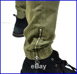 True Religion Men's Dusty Olive Utility Cargo Skinny Jeans M18FD24P9G