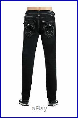 True Religion Men's Geno Slim Fit Stretch Jeans in Black Mischievous