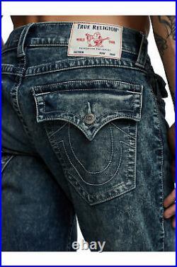 True Religion Men's Geno Slim Fit Stretch Jeans in Dark Submerge