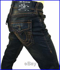 True Religion Men's Geno Up All Night Relaxed Slim Big T Jeans 102933