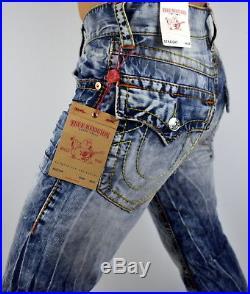 True Religion Men's Hand Picked Multi Big T Straight Jeans 100095
