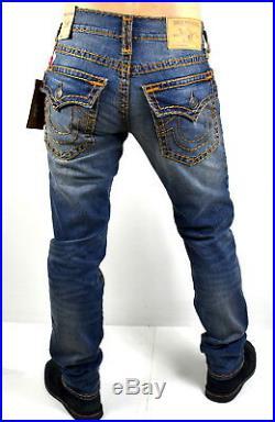 True Religion Men's Hand Picked Relaxed Skinny Super T Brand Jeans 101358