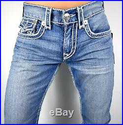 True Religion Men's Hand Picked Ropestitch Relaxed Straight Super T Jeans 102278