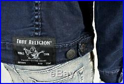 True Religion Men's Night Crawler Super T Slim Denim Trucker Jacket 102976
