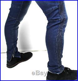 True Religion Men's Racer Stripes Slouchy Skinny Moto Jeans MDAAG821D