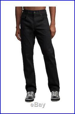 True Religion Men's Ricky Blackout Straight Leg Jeans in Black Nightfall