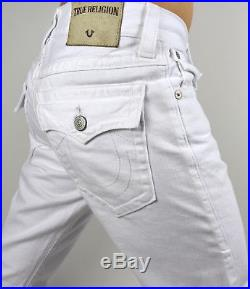 True Religion Men's Ricky Core Optic White Straight Jeans M58859NMU9