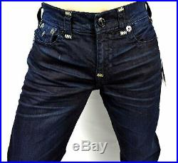 True Religion Men's Ricky Greatest Blue Relaxed Straight Super T Jeans 103315