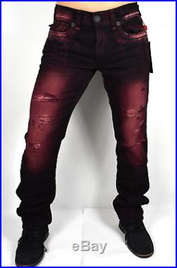 cd7bfe182 True Religion Men s Ricky Relaxed Straight Red Blaze Super T Jeans  MDA859N28W