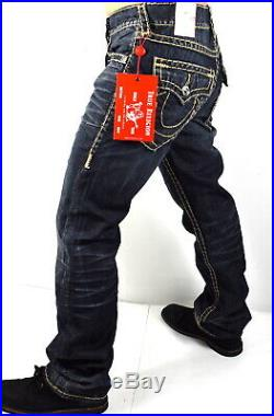 True Religion Men's Ricky Relaxed Straight Super T Brand Jeans -101974