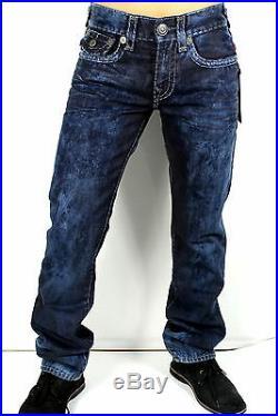 True Religion Men's Ricky Straight Cloud Cover Super T Jeans M859NZM3