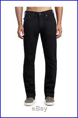 True Religion Men's Ricky Straight Leg Stretch Jeans in Body Rinse Black