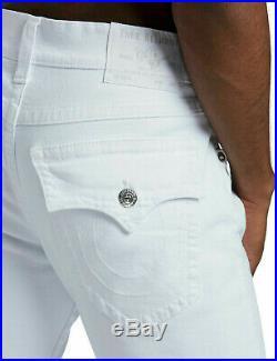True Religion Men's Ricky Straight Leg Stretch Jeans in Optic White