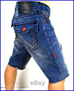 True Religion Men's Ricky Super T Pop Red Corduroy Shorts MDBC08721C