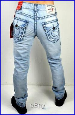 True Religion Men's Rocco Relaxed Skinny Super T Brand Jeans 102905