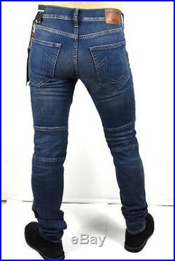 True Religion Men's Rocco Stretch Skinny Dusty Rider Moto Jeans MD078ZL3