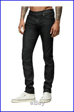 True Religion Men's Rocco Super T Skinny Fit Stretch Jeans in Black Inglorious