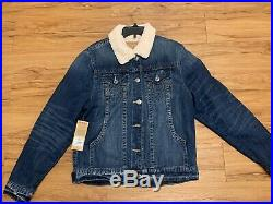 True Religion Men's Sherpa Trucker Jacket Size Medium New With Tag $179