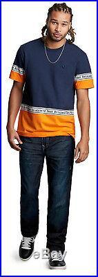 True Religion Men's Super T Ricky Straight Fit Stretch Jeans in Dark Matter