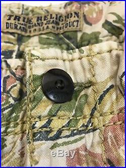 True Religion Mens 100% Authentic Hawaiian Trooper Cargo Shorts 1of1 New Rare