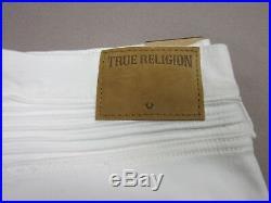 True Religion Mens Geno Relaxed Slim Biker Moto White Jeans Size 40 New Rare