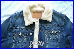 True Religion Mens Porkchop Jacket With Sherpa Size XL Brand new