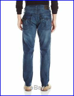 True Religion NEW Blue Mens Size 36x35 Relaxed Slim Fit Stretch Jean $199 937