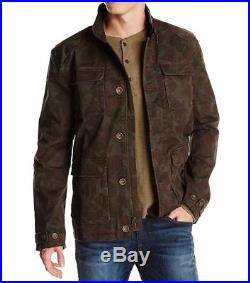 True Religion NEW Green Mens 2XL Corduroy-Collar Camo Military Jacket