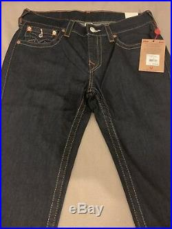 True Religion Skinny Flap Jeans Dark Blue 34x34 Brand New With Tags RRP £170