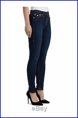 True Religion Women's Big T Super Skinny Stretch High Rise Jeans in Body Rinse