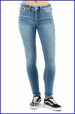 True Religion Women's Halle Super Skinny Stretch Jeans in Light Gaze