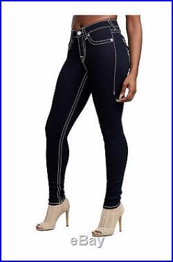 True Religion Women's Jennie Curvy Big T Skinny Stretch Jeans in Body Rinse