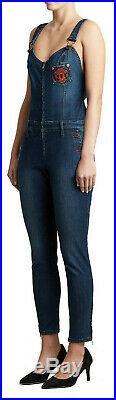 True Religion Women's X Manchester United Skinny Stretch Denim Overall Jumpsuit