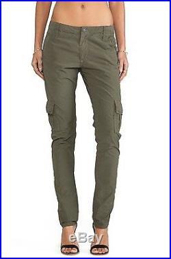 True Religion Womens Celina Vintage Military Dusty Olive Overdye Cargo Pants NEW
