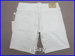 True Religion Womens Miles Relaxed Casa Blanca White Jean Shorts Size 29 New
