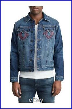 True Religion X Manchester United Mens Trucker Denim Jacket size 2XL $269 NEW