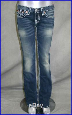 True Religion brand Jeans women's Billy Super T DEEP LAGOON RARE 10572NBT2