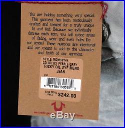 True Religion brand men's Jeans Ricky oil dye pebble grey MQ24859Y44