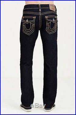 True Religion mens $299 Ricky Super T Straight Jean Body Rinse 32X34 M859NZS2